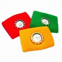 Buy cheap Watch Sweatbands with Quartz or Digital Watch on Cotton Wristband product