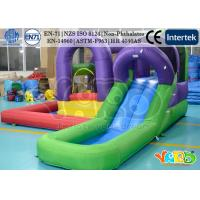 Buy cheap 420D Nylon Inflatable Mini Residential Inflatable Water Slides Home Use from wholesalers