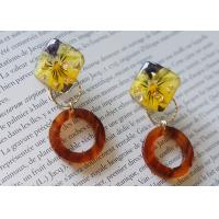 Buy cheap Iceland Halo Yellow Cute Earstud Accessories Ring Shape New Design Earrings For Girl from wholesalers