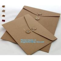 Buy cheap Custom fancy paper envelope food packaging envelope business envelopes with self adhesive,a3 a4 a7 gold brown shipping k from wholesalers