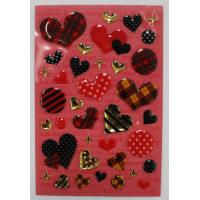 Buy cheap Fashion Leopard Heart Shaped Epoxy Stickers For Bags / Cell Phone from wholesalers