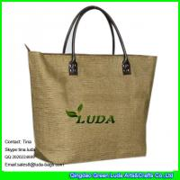 Buy cheap LUDA foldable shopping bags paper straw italian handbags from wholesalers