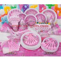 Buy cheap Fantasy girl theme kids disposable paper cups + plates party pack birthday Party Decoration Set party supplies from wholesalers