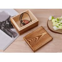 Buy cheap Rustic Handcrafted Wood Decorative Boxes , Dark Wood Standing Jewelry Box With Lid product