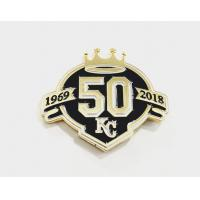 Buy cheap Custom Memorial badge Enamel Lapel Pin Badges With Stamp Logo For Crafts from wholesalers