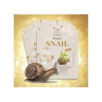 Buy cheap Private Label Snail Repair Paper Facial Mask Sheet Beauty  / Whitening 24k Gold from wholesalers