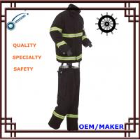 Buy cheap Navy Blue Fireman Suit PTEF Coated Fabrics 450N Tensile Strength 3Kg from wholesalers