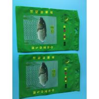 Buy cheap Custom Printed Green 3 Sided Sealed Composite Fish Bag With Transparent Window In Front from wholesalers