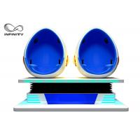 Buy cheap INFINITY Popular 9D Egg VR Cinema 2 Seats Blue / White Color For Business Investment product