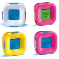 Buy cheap Candy Color Four Sided Clock LED Digital Alarm Clock with Calendar Temperature from wholesalers