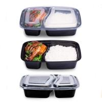 Buy cheap 1000ml 1200ml Europe style takeaway food trays two-compartment with lid product