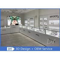 Buy cheap Glossy Pure White Wooden Glass Store Jewelry Display Cases For Shopping Mall from wholesalers
