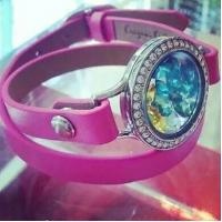 Buy cheap Tagor Jewelry New Style Leather Cord Stainless Steel Glass Lockets Bracelets from wholesalers