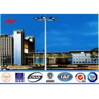 Buy cheap 40M Gr65 Steel Tubular Pole / High Mast Light Pole Square Light Bracket For Football Stadium from wholesalers
