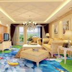 Buy cheap watering Epoxy self-leveling bedroom bathroom 3D floor clear epoxy floor paint from wholesalers