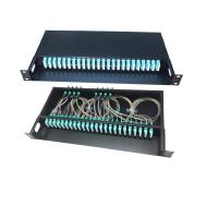 Buy cheap FTTH 12 / 48 / 96 Core Fiber Optic Cable Termination Patch Panel Compact Structure from wholesalers