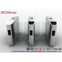 Buy cheap CE Approved Sliding Barrier Gate Turnstile Tempered Glass 30 Persons / Min product