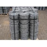 Buy cheap Double Strands Electro Hot Dip Galvanzied Barbed Iron Wire 4 Inch Distance from wholesalers