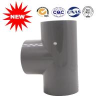 Buy cheap Positive Three Links Plastic Water Line Coupling 90 Degree Tee UPVC Fittings from wholesalers