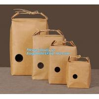 Buy cheap 1kg Rice package kraft paper packaging bag brown kraft food paper bag,5kg10kg rice bag plastic packaging bag for rice,fl from wholesalers