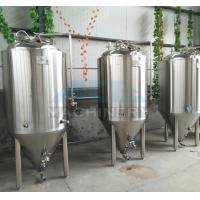 Buy cheap 1000L Red Copper Shell Inner Stainless Steel Three Vessels Brewhouse with PU Instualtion from wholesalers