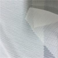 Buy cheap CRINKLE CHIFFON White Polyester Fabric , Washable 100 Percent Polyester Fabric from wholesalers