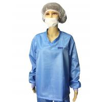 Buy cheap 5mm Grid ESD Safe Clothing V Neck Long Sleeve Anti static T Shirt And Pants from wholesalers