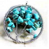 Buy cheap Blue Gemstone Beaded Jewelry Tree Of Life Birthstone Pendant For Jewellery Beading Kit from wholesalers