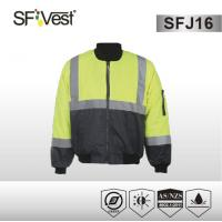Buy cheap Hi Vis bomber jacket polyester 300D oxford AS/NZS standrard assorted color product