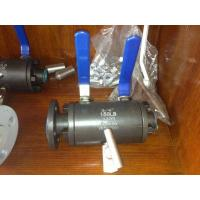 Buy cheap STAINLESSS STEEL 316 A351 CF8M CS A216 WCB Flanged x NPT Twin (Double) Ball DBB Ball Valve with SS316 Needle Valve from wholesalers