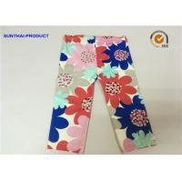 China Large Floral Printed Cute Baby Girl Leggings Color Customized For Infant on sale