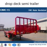 Buy cheap CIMC 3 axle drop deck semi trailer from wholesalers