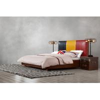 Buy cheap Leather Upholstered Headboard Custom Bed in hotel Guestroom king and queen size from wholesalers