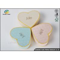 Buy cheap Heart Appearance Cardboard Jewelry Boxes , Cardboard Candy Boxes Eye Catching from wholesalers
