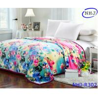 Buy cheap Fantasy flower print quality mink plush blanket from wholesalers