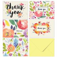 Buy cheap 36 Bulk Custom Size Paper Greeting Card , Watercolor Flower Card With Envelopes from wholesalers