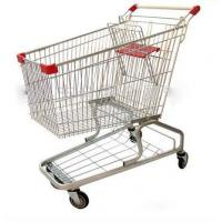 Buy cheap Heavy Duty Supermarket Carts Wire Unfolding Shopping Baskets On Wheels from wholesalers