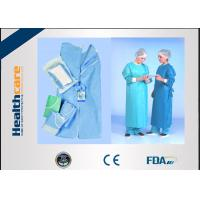 Buy cheap SMMMS / SMMS Disposable Surgical Gowns Medical ScrubsAcid Proof Free Samples from wholesalers