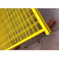 Buy cheap Canada standard Construction Temporar Fencing Panels 6'x9.6' mesh 2x4x3.2mm powder coated yellow 1.2/30mm tubing from wholesalers