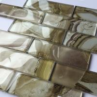 Buy cheap Multi Coloured Glass Mosaic Tiles Waterproof ,  Indoor Kitchen Wall Decor Tiles product