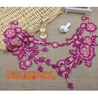 Buy cheap Diy sewing accessories handmade embroidered peony Flower Patch 3D flower motif applique from wholesalers