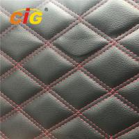 Buy cheap Artificial Embroidery PU PVC Artificial Leather With Foam Bonded for Sofa for Car product