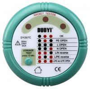 Buy cheap Socket Polarity Tester RCD DY-207C, 4 Versions Available, Euro major, UK, USA/Japan/Brazil product