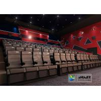 Buy cheap 4D Cinema 4D Movie Theatre Equipment With Motion Chair 3 / 4 / 5 Seats A Set from wholesalers