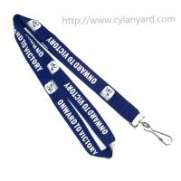 Buy cheap Cheap simple imprinted sports medal holder neck lanyard with metal swivel J hook, MOQ 300 from wholesalers