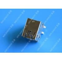 Buy cheap Double Layers Female USB Micro Connector Type A Right Angle 8 Pin DIP Jack from wholesalers
