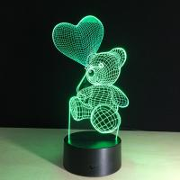 Buy cheap Led 3D lamp Unicorn shape 3d night light for christmas decoration from wholesalers