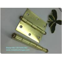 Buy cheap Brass Plated  Heavy Duty Door Hinges , Ball Tip Garage Door Hinges Wooden Box Packing from wholesalers