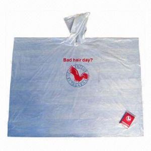 Buy cheap Promotional PVC Raincoat/Rainwear, Customized Logos are Welcome product