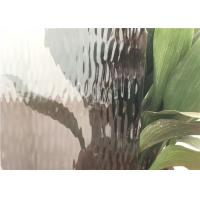 Buy cheap Grey Flat Colored Glass Panels , Custom Size Patterned Figured Glass from wholesalers